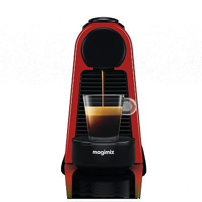 magimix nespresso essenza mini coffee machine red 11366. Black Bedroom Furniture Sets. Home Design Ideas