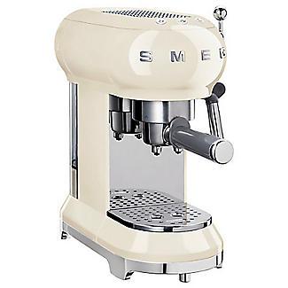 Smeg Espresso Coffee Machine Cream ECF01CRUK