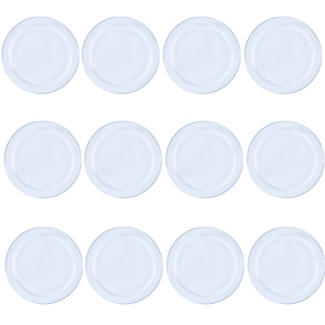 12 Plain White Twist Off Jam Jar Lids