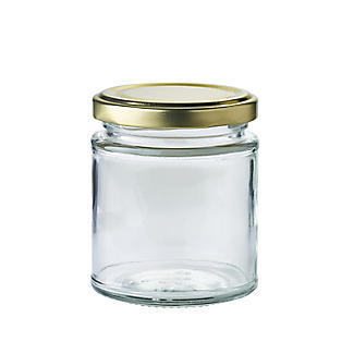 12 Small Glass Jam Jars Without Lids 8oz 227g alt image 1