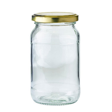 12 Standard Glass Jam Jars Without Lids 1lb 454g