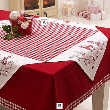 Christmas Check Tablecloth in placemats and table linen at Lakeland