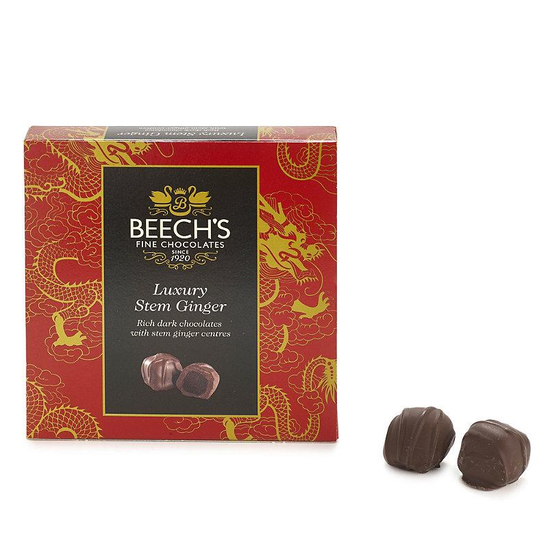 Beech's Box of Dark Chocolate Coated Stem Ginger