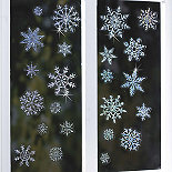 Sparkly Snowflakes Window Decorations