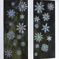 Sparkly Snowflake Window Decorations