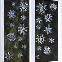 Glitzernde Schneeflocken-Fensterdekoration