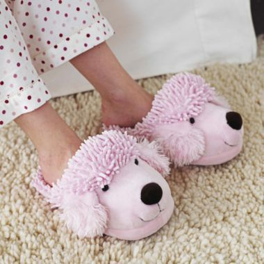 fuzzy pink poodle slippers in uncategorised at lakeland