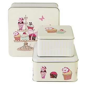 Square Cupcake Tin Trio
