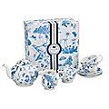 7 Piece Botanic Blue Tea Set