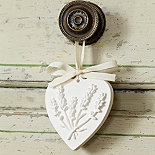 Lavender Clay Heart
