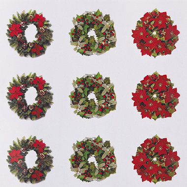 48 Christmas Envelope Seals