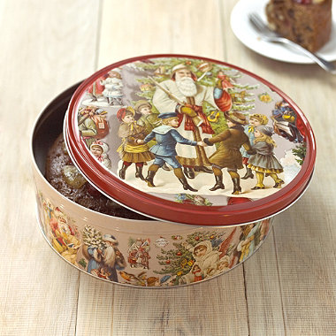 victorian christmas cake tin in cake storage at lakeland. Black Bedroom Furniture Sets. Home Design Ideas