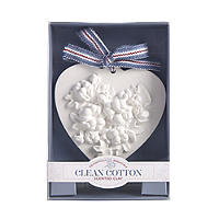 Clean Cotton Scented Clay Heart