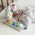 4 Paint Your Own Christmas Baubles