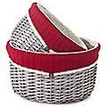 2 Winter Wooly Wicker Baskets