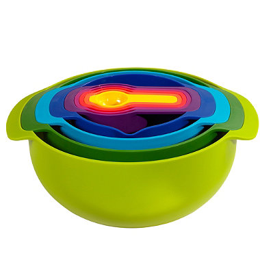 Joseph Joseph Nest 9 Plus Nesting Bowls, Colander, Sieve & Spoon Set