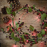 Winter Berry LED Garland