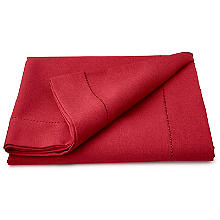 Red Linen-Look Tablecloth