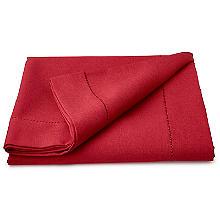 Tischtuch in Leinenoptik, rot