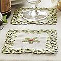6 Holly and Mistletoe Coasters
