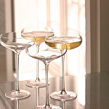 LSA 4 Champagne Saucers