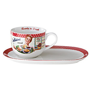Vintage Kellogg's Jumbo Cup and Snack Plate