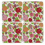 Julie Dodsworth® Set of 4 Floral Romance Coasters