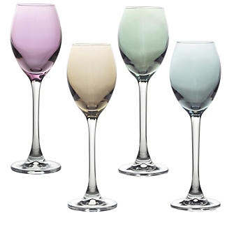LSA 4 Polka Liqueur Glasses