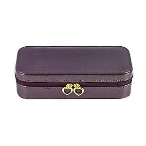 Purple Travel Jewellery Case