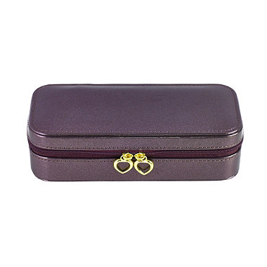 Purple Travel Jewellery Case
