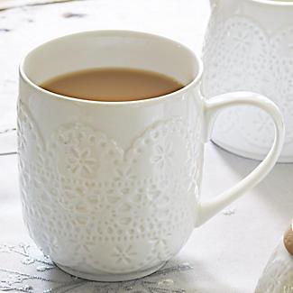 Vintage Teatime Porcelain Mug