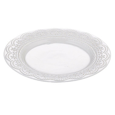 Vintage Teatime Porcelain Tea Plate