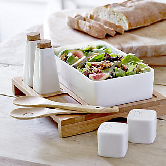 Porcelain Salad Serving Set alt image 1