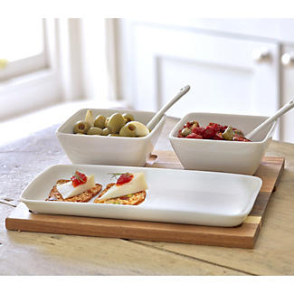 6-Piece Porcelain Tapas Set