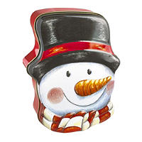 Snowman Tin