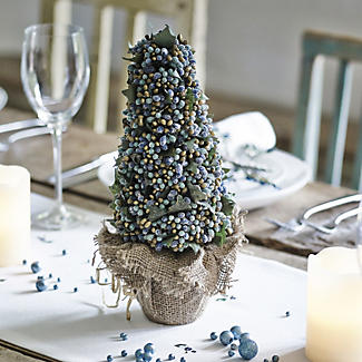 Teal Topiary Cone
