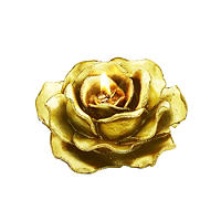 Gold Rose Sparkle Candle
