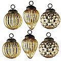 6 Gold Vintage Baubles
