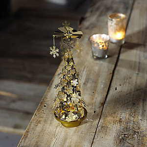 Snowflake Tree Tealight Carousel