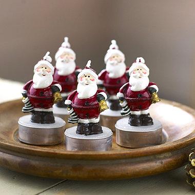 6 Santa Candles