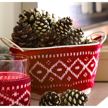 3 Winter Woollies Festive Pails Decorations