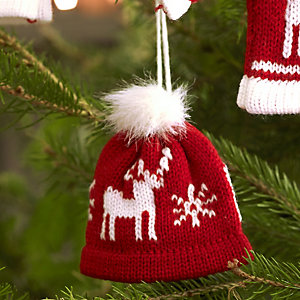 Winter Woollies Bobble Hat Decoration