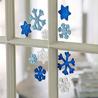 Sparkly Snowflake Window Gels