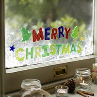 Merry Christmas Window Gels