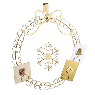 Bauble over door card holder in christmas decorations for Door xmas card holders