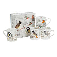 Porcelain Bird Mug Gift Set