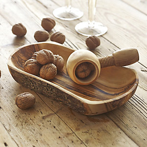 Olive Wood Nut Cracker Set