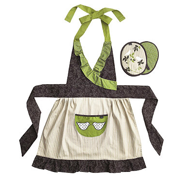 Kiko Apron and Pot Holder Gift Set