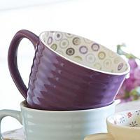 Paisley Mug Plum