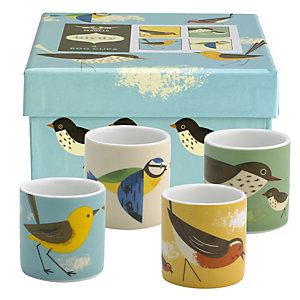4 Magpie Birdy Egg Cups